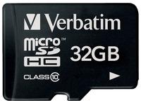 Verbatim - flash memory card - 32 GB - microSDHC