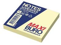 Herkleefbare notes geel Maxiburo formaat 75 x 75 mm