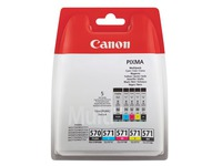 Pack with 5 cartridges Canon PGI570 + CLI571 2 black and 3 colours for inkjet printer