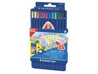 Crayon de couleur Ergosoft Staedtler couleurs assorties - Chevalet de 12+ 1 recharge de 12 crayons offerte