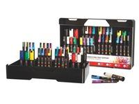 Koffer Uniball mit 30 farbig sortierten Markierstiften Posca