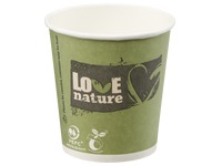 "Biologisch afbreekbare bekers ""Love Nature"" 10 cl"