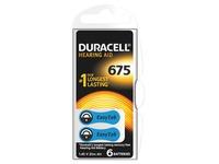 Blister van 6 batterijen Duracell voor hoorapparaat type 675