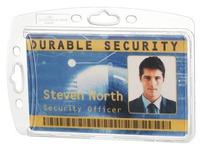Sterke badge Durable zonder clip 54 x 85 mm voor 1 kaartje - Doos van 10