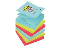 Z-Notes couleurs Miami Super Sticky Post-it 76 x76 mm - Bloc de 90 feuilles