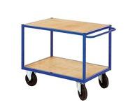 Rolwagen voor atelier 2 houten platformen breedte 106 cm - draagkracht 500 kg