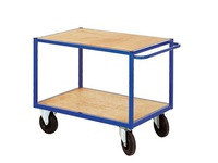 Trolley for workshop 2 wooden trays width 106 cm- capacity 500 kg