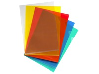 Box, 100 corner files Bruneau, transparent assorted colours, PVC 12/100