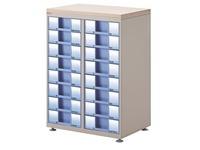 White module Clen 2 racks 16 drawers 9 cm