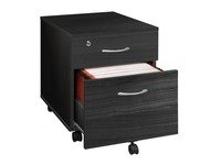 Mobile drawer cabinet 2 drawers Cubo black