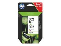 HP 302 pack cartridges zwart + kleuren voor inkjetprinter