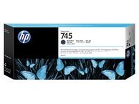 HP 745 - dof zwart - origineel - DesignJet - inktcartridge (F9K05A)