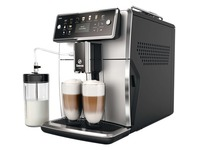 Saeco Xelsis SM7581 - automatic coffee machine with cappuccinatore - black/silver