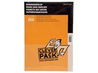 Cleverpack bordrugenveloppen, ft 262 x 371 mm, met stripsluiting, wit, pak van 25 stuks