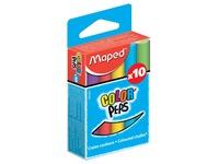 Schoolbordkrijt Maped Color'Peps assorti stofvrij