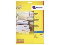 Etiket Avery J8160-10 63.5x38.1mm wit 210stuks
