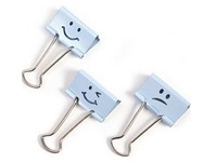 Box with 20 foldback clips 19 mm Rapesco pastel blue