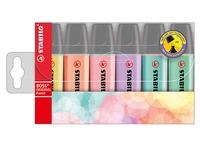 Text markers Stabilo Boss pastel colors assortment sleeve of 6 pieces