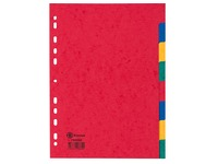 Dividers A4 in colored glossy cardboard Bruneau 8 neutral and colored tabs - 1 set