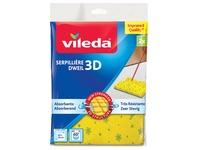 Vileda serpillière structure 3D, jaune, paquet de 2 pièces