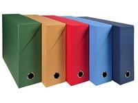 Classifying box fabric-lined cardboard Exacompta back 9 cm assortment