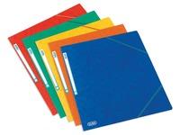 Elba Top File chemise à rabats et élastiques en carton, ft A5, couleurs assorties