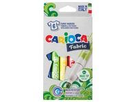 Carioca feutre textile Fabric, boîte de 6 pièces en couleurs assorties