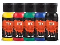 Darwi textielverf Tex, 50 ml, etuivan 5 stuks in geassorteerde kleuren