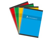 Notebook spiral binding Conquérant Sept 21 x 29,7 cm large squares 180 pages