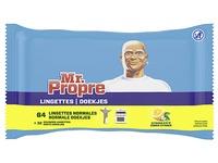 Lingettes Mr Propre citron - Paquet de 64 lingettes