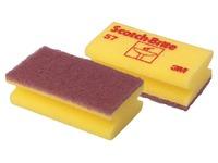 Scotch Brite schuurspons voor delicate oppervlakken, ft 7 x 13 cm, geel, pak met 10 stuks