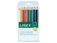 Linex kleurpotloden, ophangetui met 12 potloden