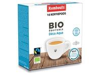 Rombouts dosettes de café pour espresso, Décaféiné, paquet de 16 pièces