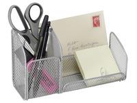 Desk organizer MESHTRI 3 compartments - metal grey