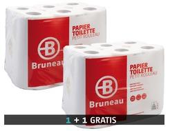 Pak 48 rollen toiletpapier dubbele dikte Bruneau + 1 gratis pak