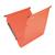 oranje hangmap voor kasten met bodem van 1,5cm